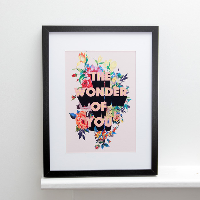 The Wonder Of You Framed Print - the perfect gift for a friend or a loved one. Buy online with free UK delivery