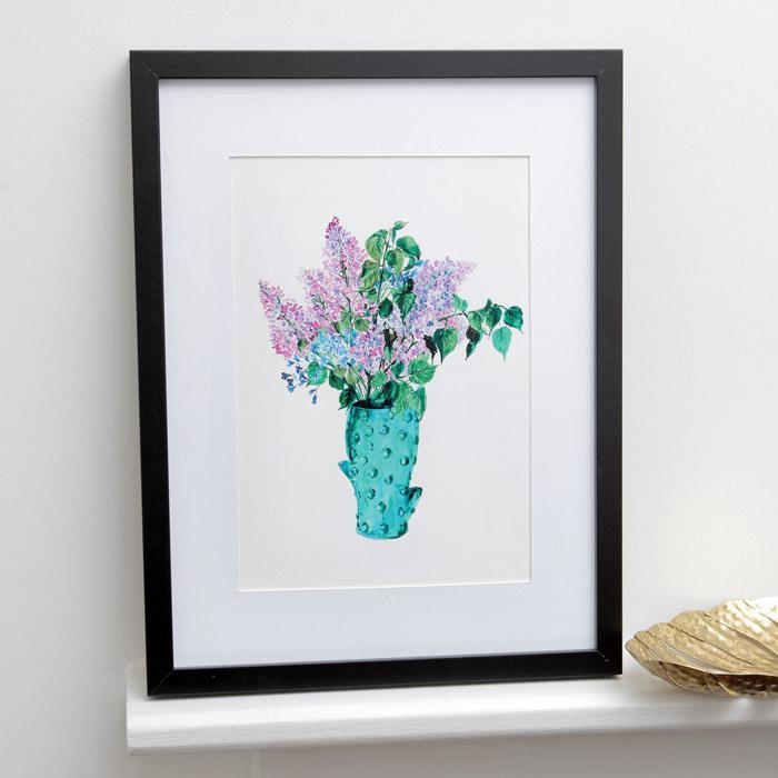 Cactus Vase With Flowers Print - Buy Online UK