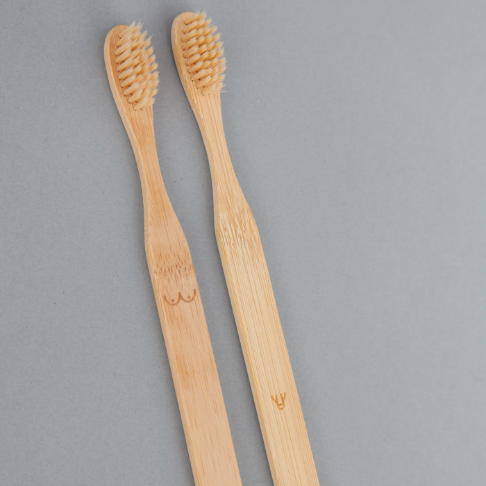 Se of 2 Bamboo Toothbrushes - Buy online UK