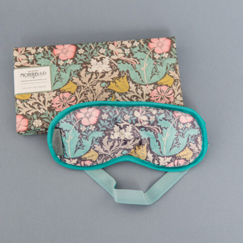 Morris & Co. Pink Clay and Honeysuckle Velvet Sleep Eye Mask