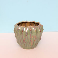 Green Textured Ceramic Plant Pot - Buy online UK
