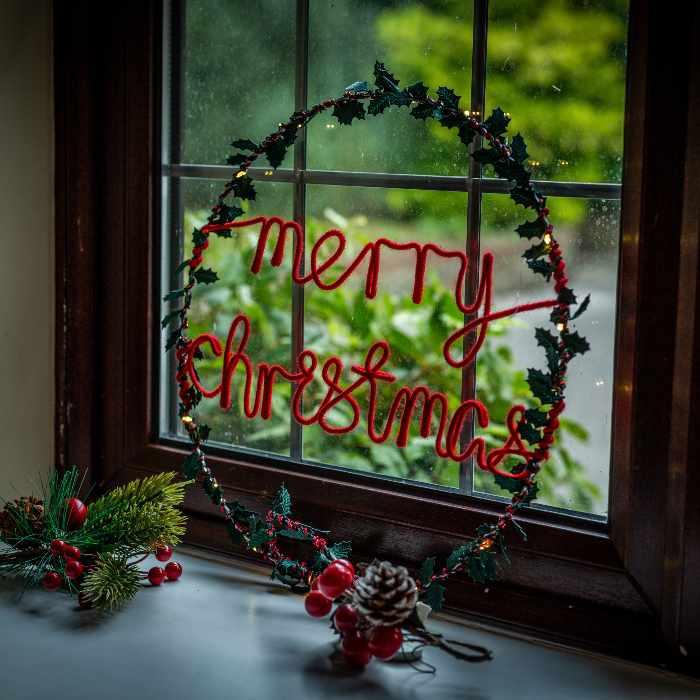 Merry Christmas Wreath Light