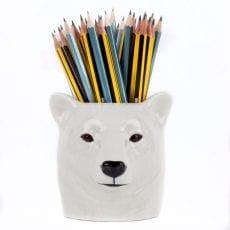 QUAIL Ceramics Polar Bear Pen Pot - Buy Online UK
