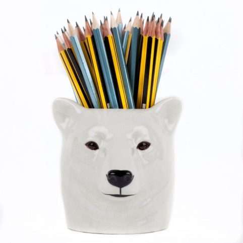 QUAIL Ceramics Polar Bear Pen Pot - Buy Online UK