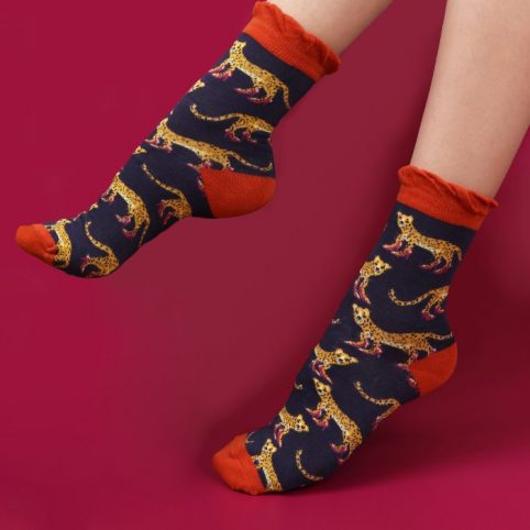 Powder Bamboo Leopard Socks - Buy Online UK