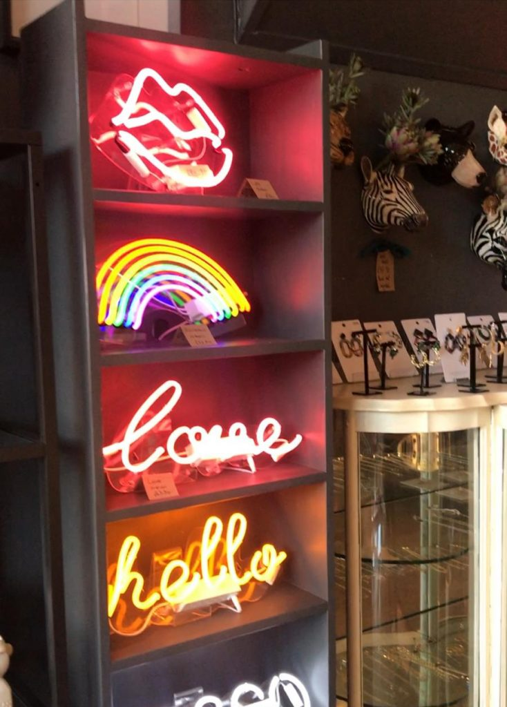 Source Lifestyle London gift boutique neon signs