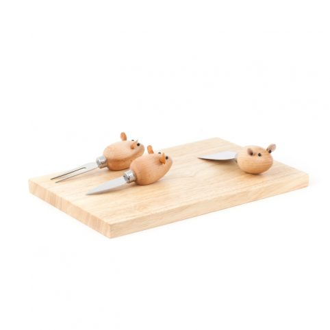 Mouse cheese board set