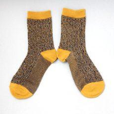 Sixton Lurex Cheetah Print Socks - Buy Online UK