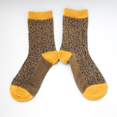 Sixton Lurex Cheetah Print Socks - Buy Online UK