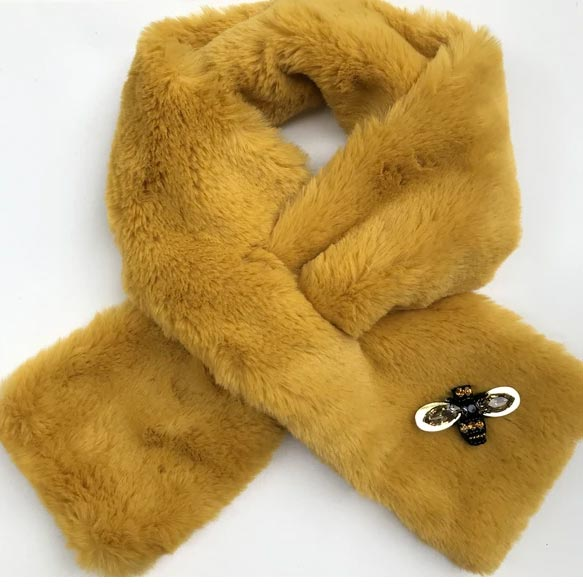 Sixton Yellow Collar Fur - Buy online UK