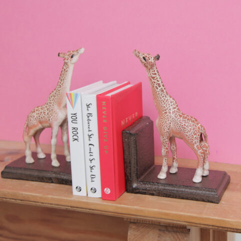 Cast Iron Giraffe Bookends - Buy Online UK