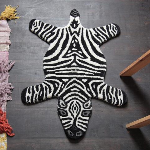 Small Woollen Zebra Rug - Buy Online UK
