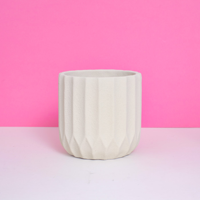 Present Time White Ceramic Pot - Buy Online UK