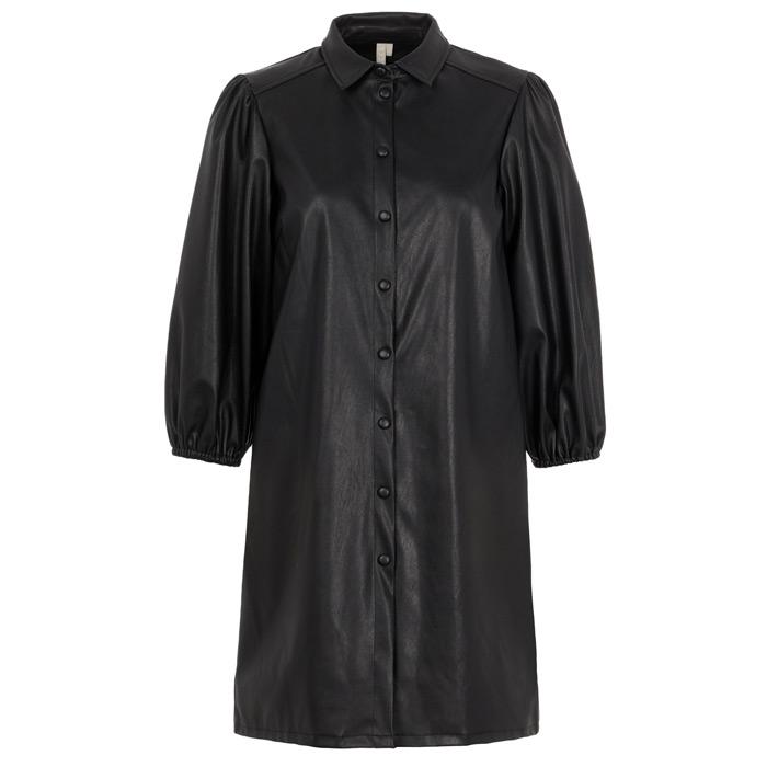 Black Fake Leather Dress - Buy Online UK