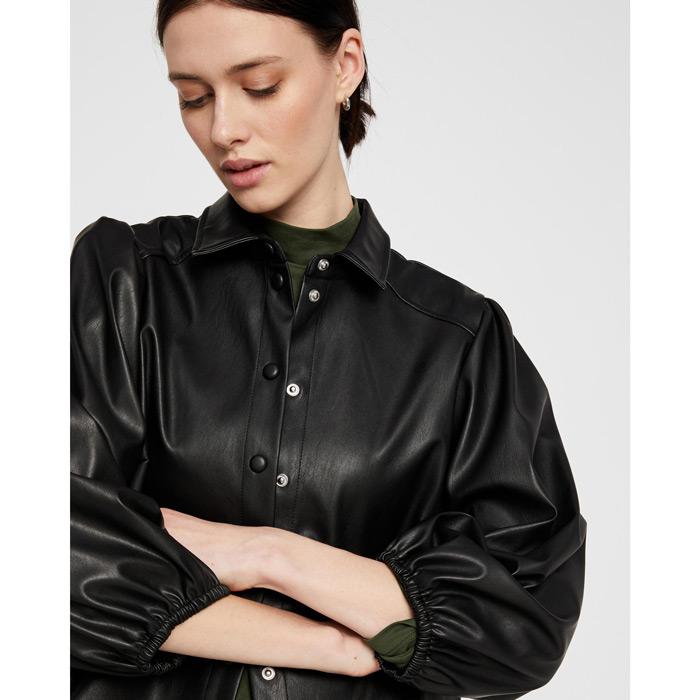 Black Vegan Leather Shirt - Buy Online UK