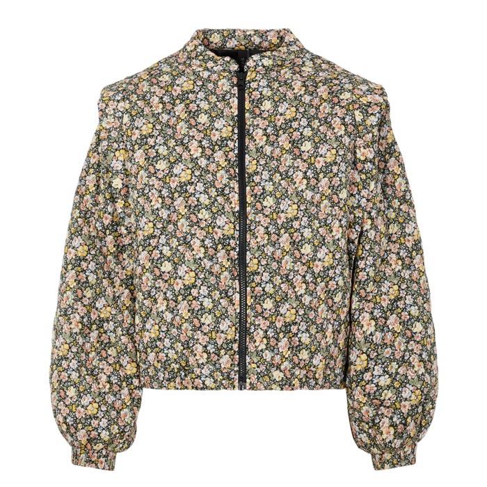 YAS Flower Print Bomber Jacket - Buy Online UK