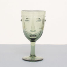 Art Deco Face Wine Glass - Buy online UK