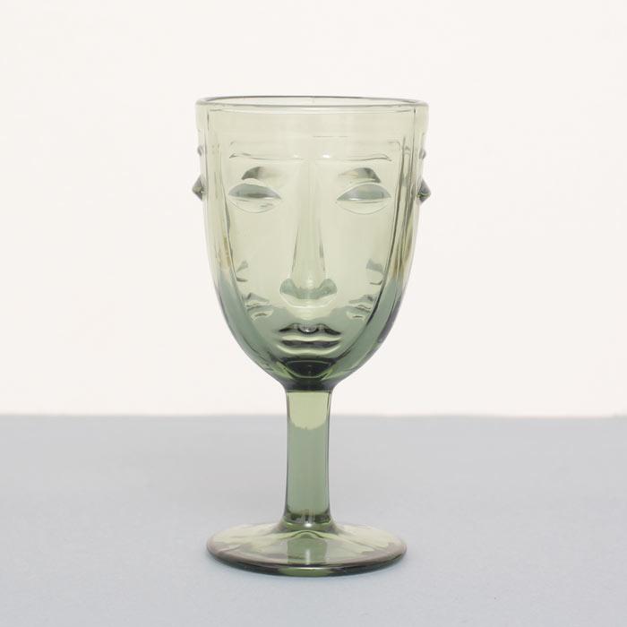 Art Deco Face Wine Glass - Buy online UK