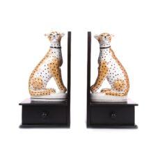 Temerity Jones Leopard Bookends