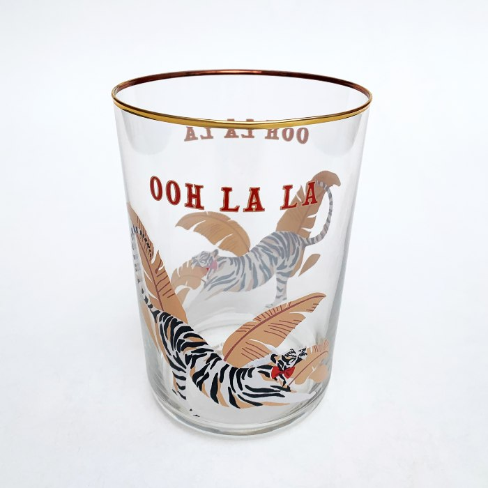 Yvonne Ellen 'Ooh La La' Tiger Glass Tumbler