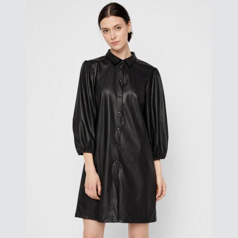 Black Imitation Leather Dress - Buy online UK