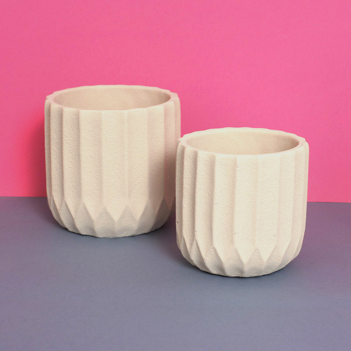 White Textured Ceramic Planter - Buy online UK