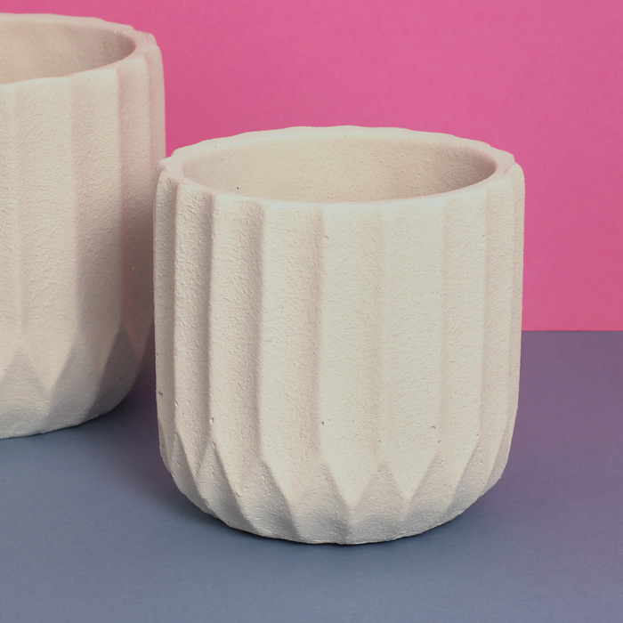 Round Ceramic Textured Pot - Buy Online UK