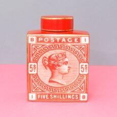 orange stamp detail ginger jar - buy online UK with free delivery