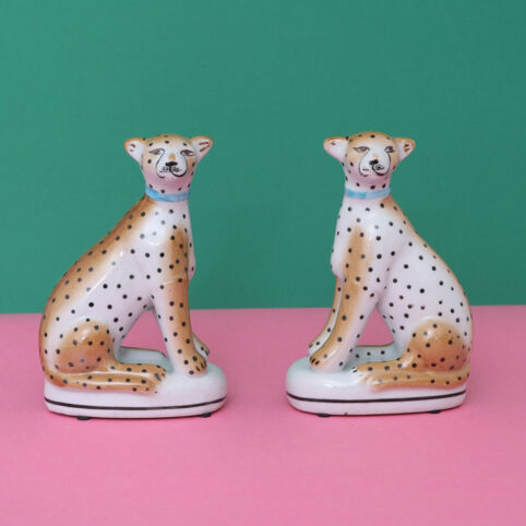 leopards -set of 2. Perfect for the mantlepiece or a shelf for these twin leopards. Buy online with free UK delivery over £20