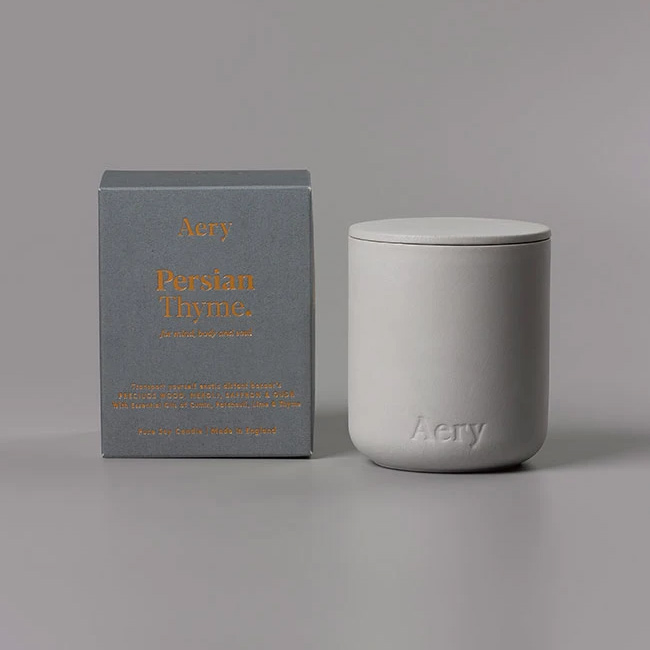 Aery Persian Thyme Scented Candle - Buy Online UK