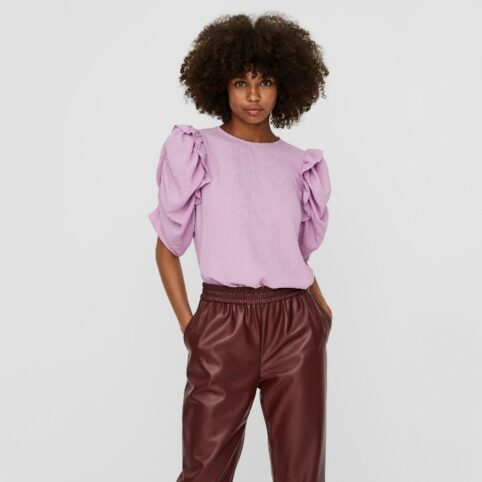 Vero Moda Volume Sleeve Top Lilac Buy Online UK