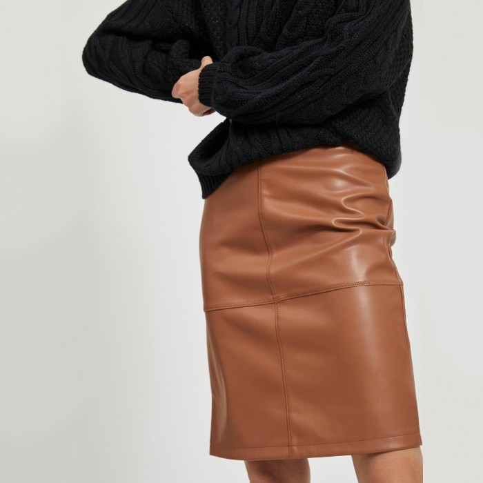 Faux Leather Skirt - Vila Super soft and a great colour. Buy online with free UK delivery over £20