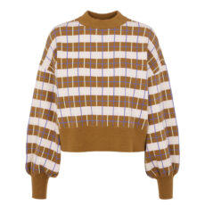 YAS Knit Check Jumper - Buy Online UK