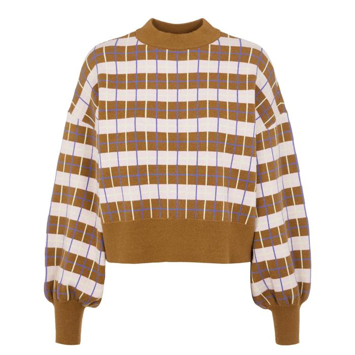 YAS Knit Check Jumper - Buy Online UK