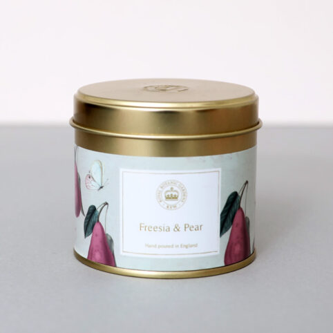 Freesia and Pear Candle from Kew Gardens - the eprfect travel size or any room size candle. The smells amazing too - buy online UK