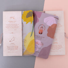 Wanderflower Mask Library - Set of 4. Pamper yourself with a face,hand,eye and foot mask. Paraben and cruelty-free. Buy online UK