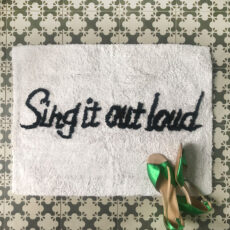 Sing It Out Loud BAth Mat from Au Maison. Add some fun to oyur bathroom - buy online with free delivery on all orders over £20 in the UK