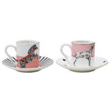 Animal Espresso Cup and Saucers Set of 2 - Buy Online UK