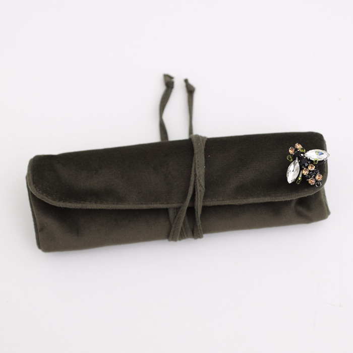 Sixton Velvet Jewellery Roll - Buy Online UK
