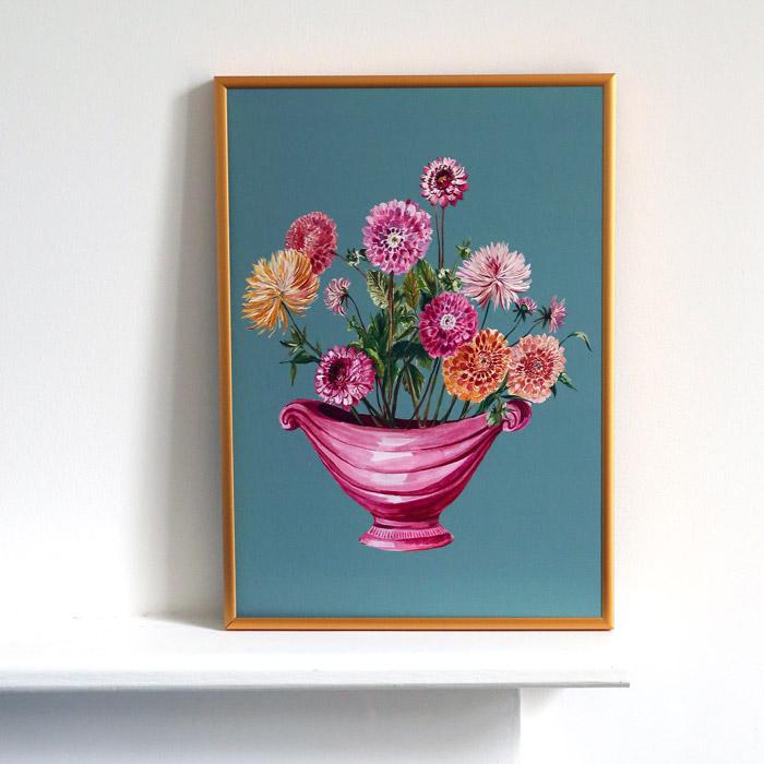 Dahlias Art Print - Buy online UK