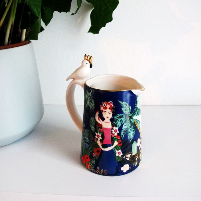 Frida Kahlo Jug with a tropical theme buy online UK