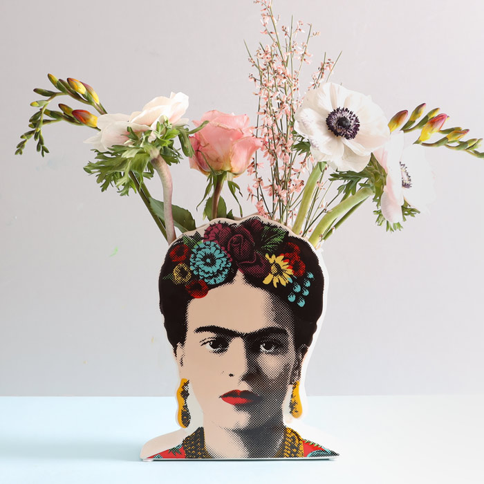 Frida Kahlo Vase - she is such an iconic figure whose popularity has goen from strength to strength. Buy online with free UK delivery over £20