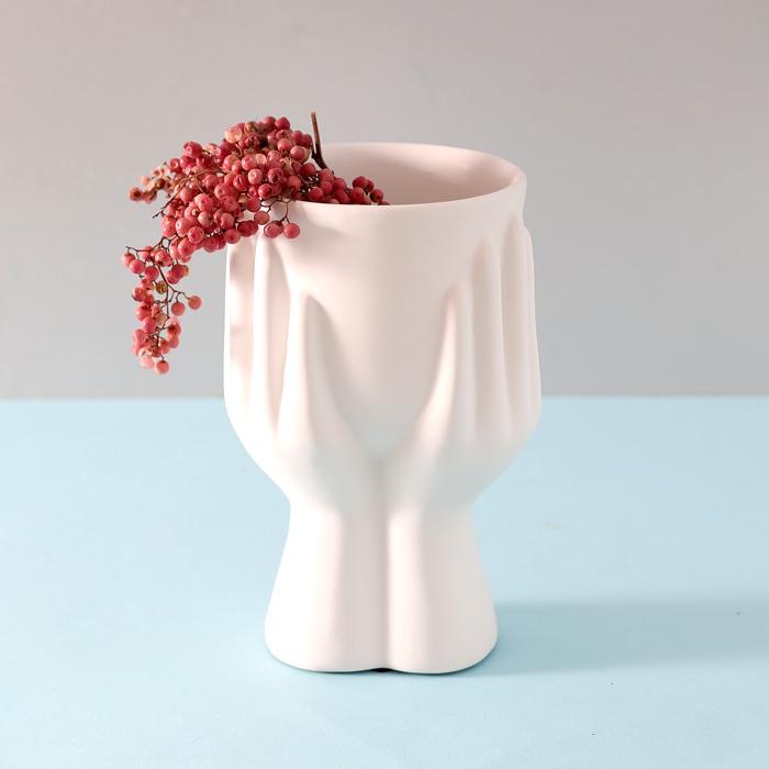 White Hands Ceramic Planter - Buy online UK