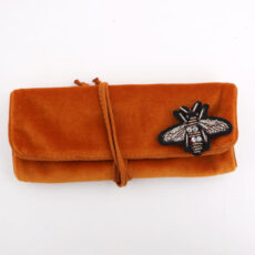 Orange Velvet Jewellery Roll - Buy Online UK