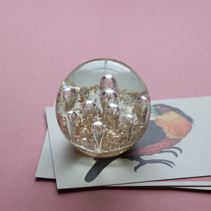 Bubbles Ball Glass Paperweight - Buy Online UK