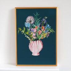Shell Vase with Garden Blooms Print - Buy Online UK