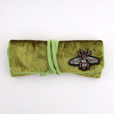 Sixton Green Velvet Jewellery Roll - Buy Online UK