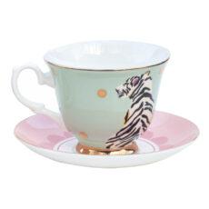 Yvonne Ellen Tiger Cup and Saucer - Buy Online UK