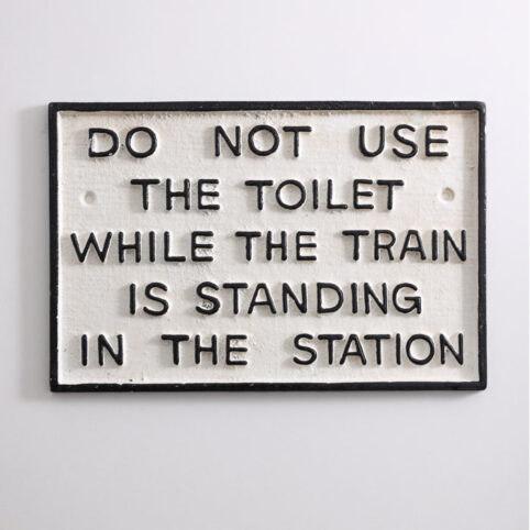 Cast Iron Funny Toilet Sign - Buy Online UK