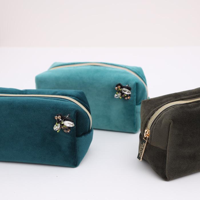 Sixton Velvet Make Up Bag - Buy Online UK